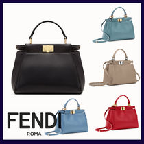 FENDI PEEKABOO 2WAY Plain Handbags