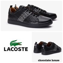 LACOSTE Unisex Plain Leather Sneakers