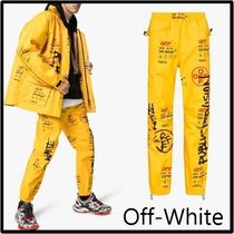 Off-White Printed Pants Street Style Patterned Pants