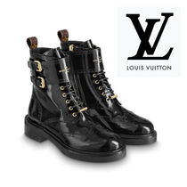 Louis Vuitton Round Toe Casual Style Leather Ankle & Booties Boots