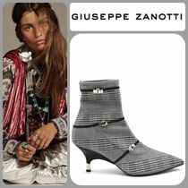 GIUSEPPE ZANOTTI Other Check Patterns Pin Heels Elegant Style