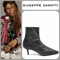 GIUSEPPE ZANOTTI Leather Pin Heels Elegant Style Ankle & Booties Boots