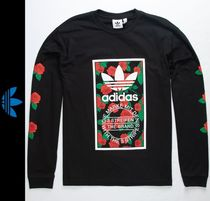 adidas Flower Patterns Street Style Long Sleeves