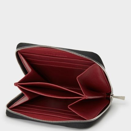 Plain Leather Long Wallet  Coin Cases