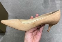 Jimmy Choo Suede Plain Pin Heels Office Style Pointed Toe Pumps & Mules