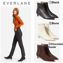 Everlane Casual Style Suede Plain Leather Pin Heels