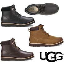 UGG Australia Mountain Boots Fur Plain Leather Outdoor Boots