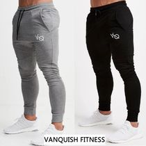 VANQUISH FITNESS Tapered Pants Unisex Sweat Blended Fabrics Street Style