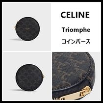 CELINE Triomphe Canvas Coin Cases