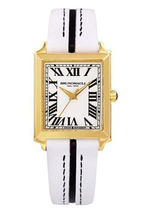 Casual Style Leather Square Quartz Watches Stainless