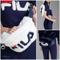 FILA Street Style Plain Oversized Crossbody Logo Shoulder Bags