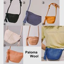 Paloma Wool Casual Style Tassel 3WAY Plain Leather Shoulder Bags