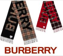 Burberry Other Check Patterns Unisex Heavy Scarves & Shawls