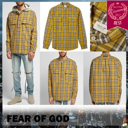 FEAR OF GOD Shirts Other Check Patterns Cotton Shirts