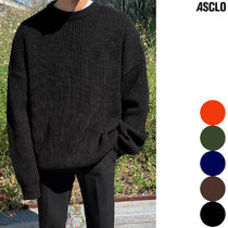 ASCLO Street Style Collaboration Long Sleeves Plain Sweaters
