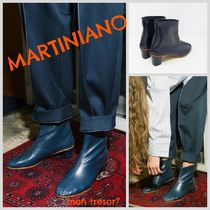MARTINIANO Plain Leather Handmade Boots Boots