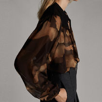 Massimo Dutti Puffed Sleeves Long Sleeves Puff Sleeves Shirts & Blouses