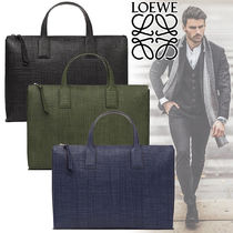 LOEWE Other Check Patterns Calfskin Canvas Street Style A4
