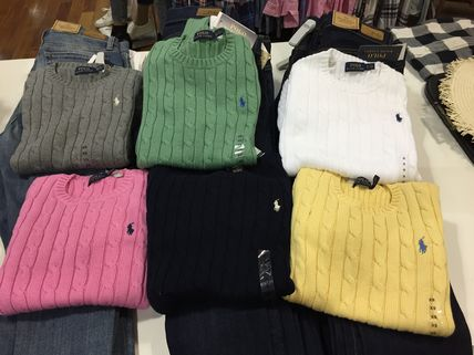 Ralph Lauren Logo Crew Neck Long Sleeves V-neck & Crew neck