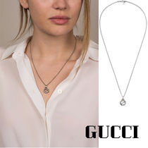 GUCCI Unisex Silver Necklaces & Chokers