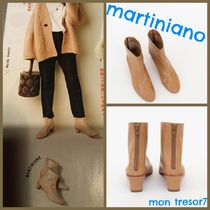 MARTINIANO Casual Style Plain Leather Boots Boots
