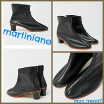 MARTINIANO Casual Style Plain Leather Handmade Boots Boots