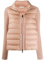 MONCLER Short Casual Style Wool Blended Fabrics Street Style