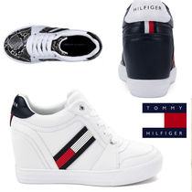 Tommy Hilfiger Wedge Casual Style Faux Fur Street Style Plain Logo