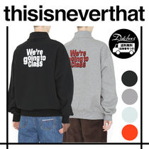 thisisneverthat Casual Style Unisex Street Style Long Sleeves Oversized Tops