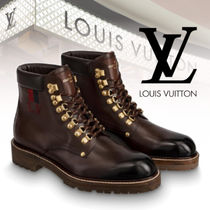 Louis Vuitton Plain Toe Mountain Boots Plain Leather Outdoor Boots