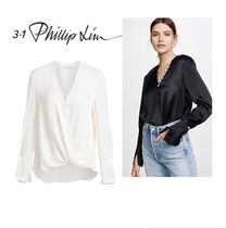 3.1 Phillip Lim Long Sleeves Plain Party Style Elegant Style