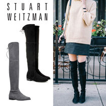 Stuart Weitzman Casual Style Suede Plain Elegant Style Over-the-Knee Boots