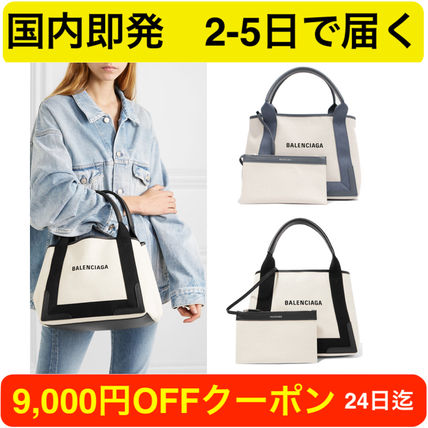 Casual Style Canvas 2WAY Plain Totes