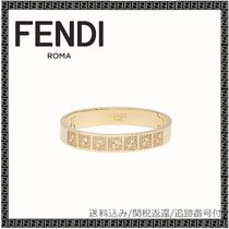 FENDI Bangles Blended Fabrics Party Style Brass Office Style