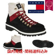 Tommy Hilfiger Unisex Blended Fabrics Street Style Plain Leather Boots