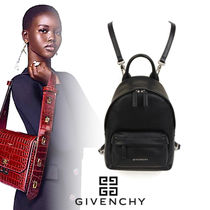 GIVENCHY Casual Style Unisex Calfskin Blended Fabrics Street Style