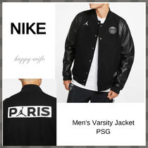 Nike AIR JORDAN Unisex Street Style Collaboration Plain MA-1 Varsity Jackets