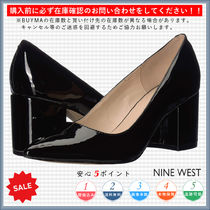 Nine West Casual Style Plain Chunky Heels Pointed Toe Pumps & Mules