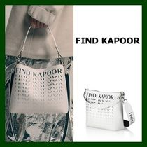 FIND KAPOOR Stripes Casual Style Unisex Faux Fur Studded Purses