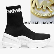 Michael Kors Olympia Platform Round Toe Rubber Sole Casual Style Unisex