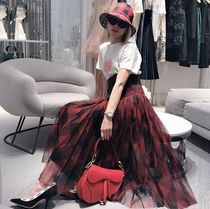 Christian Dior Flared Skirts Other Plaid Patterns Pleated Skirts Cotton