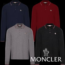 MONCLER Long Sleeves Plain Polos