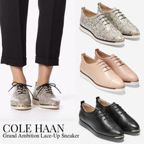 Cole Haan Plain Other Animal Patterns Leather Low-Top Sneakers