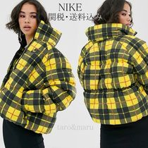 Nike Other Check Patterns Street Style Medium Down Jackets