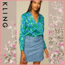 KLING Flower Patterns Long Sleeves Shirts & Blouses