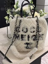 CHANEL Casual Style 2WAY Shearling Logo Bags