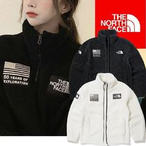 THE NORTH FACE Short Casual Style Unisex Street Style Oversized Outerwear