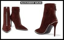 Alexander Wang Casual Style Suede Blended Fabrics Plain Pin Heels