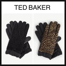 TED BAKER Leopard Patterns Leather Leather & Faux Leather Gloves