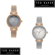 TED BAKER Casual Style Round Party Style Stainless Office Style